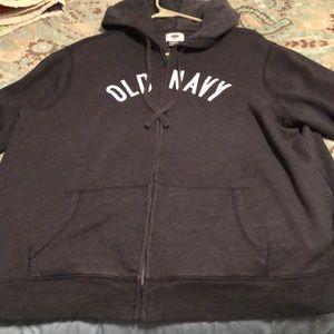 Old Navy Dark Gray Hoodie . Size  2x.